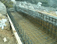 Hycrete System W was used without a membrane to waterproof this pool for a private residence in Temecula, CA