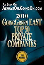 2010 GoingGreen East - Top 50 Private Companies