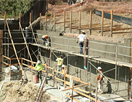 Retaining walls can be very difficult to waterproof effectively. In this project in Laguna Beach, CA, Hycrete System W was used to effectively waterproof a shotcrete retaining wall.