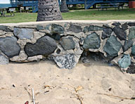 Sea walls like this one in Hawaii corrode and fall apart quickly because of salt damage. For this sea wall, Hycrete is working with the US Army Corps of Engineers to create a more durable replacement.